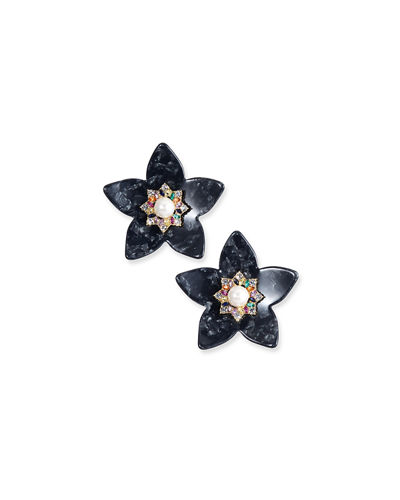 BaubleBar Amariah Flower Resin Drop Earrings