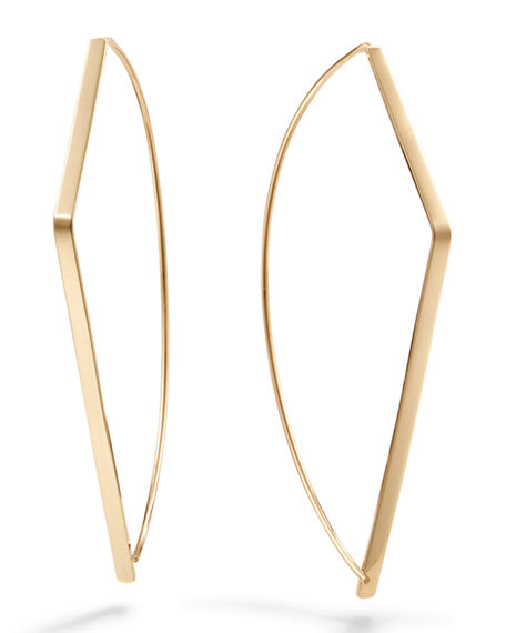 Lana  30MM ANGLED UPSIDE DOWN HOOPS