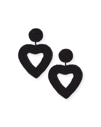Vionnet Heart Drop Earrings
