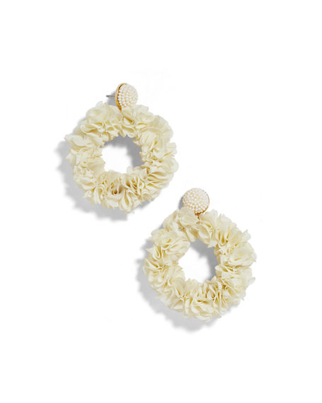 Baublebar Accessories CAMELLIA FLOWER HOOP EARRINGS