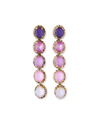 Von Ombre Crystal Drop Earrings