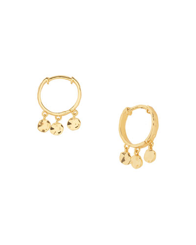Chloe Mini Huggie Dangle Hoop Earrings