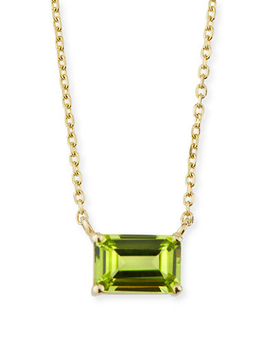 14K Yellow Gold Amalfi Emerald Cut Necklace