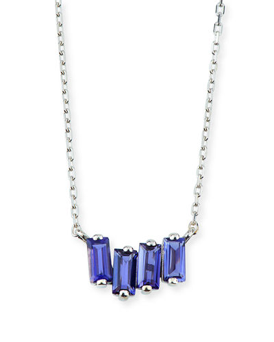 14k White Gold Amalfi Fireworks Necklace, Topaz/Iolite
