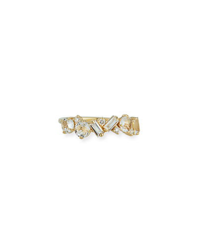 Bloom 14K Yellow Gold Amalfi Mix Ring, Size 4-8.5