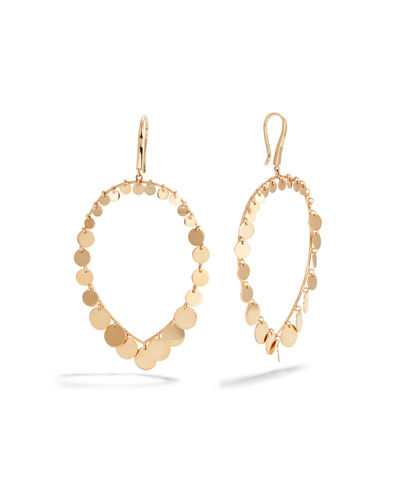 LANA 14k Teardrop Disc Dangle Earrings