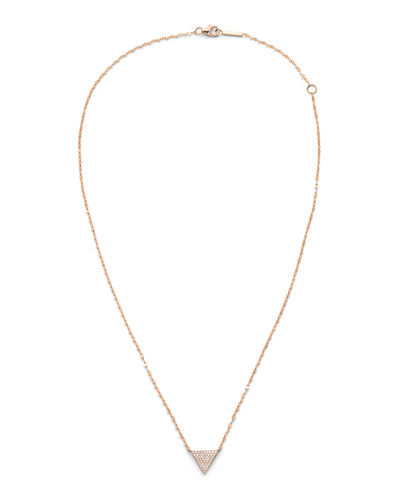 14k Diamond Triangle Pendant Necklace
