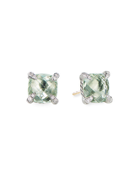 Image 1 of 3: David Yurman 9mm Châtelaine Stud Earrings