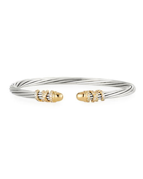 David Yurman 4mm Helena Cabochon Tip Bracelet with Diamonds