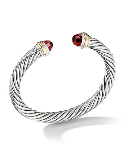 Cable Classics Bracelet with Semiprecious Stones & 14K Gold, 7mm