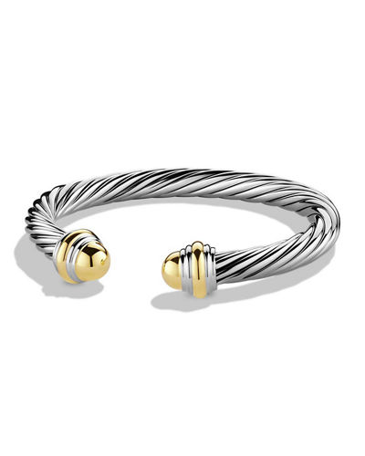 Cable Classic Bracelet with Stone Ends