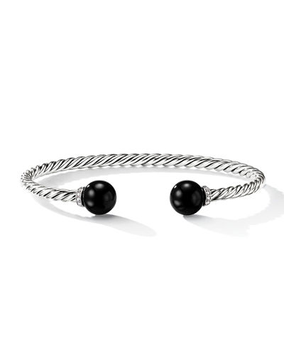 Solari 9mm Silver Open Bead Bangle Bracelet