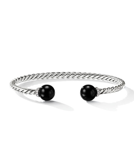 Image 1 of 4: David Yurman Solari Bracelet with Diamonds and Black Onyx