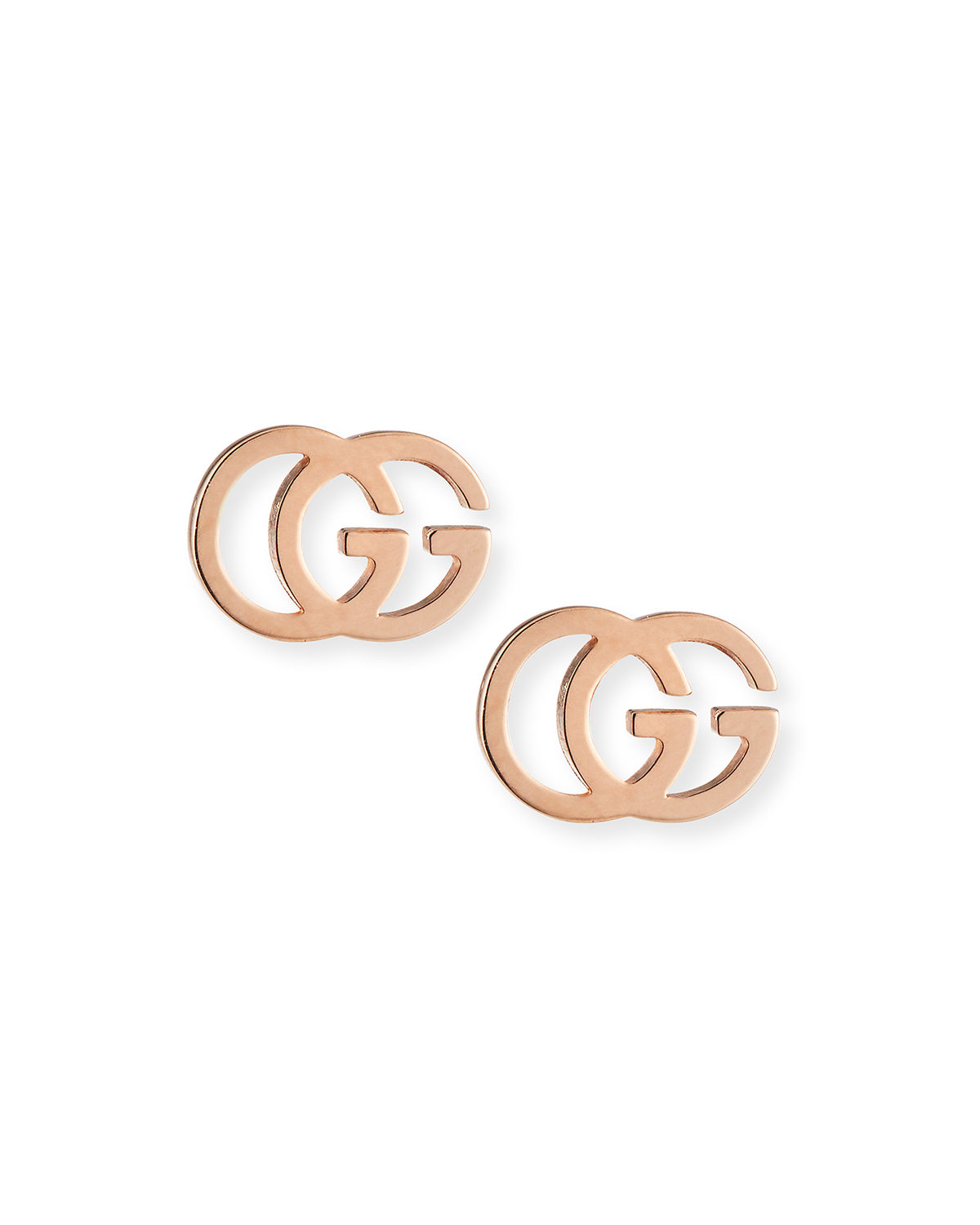 24d2e707389 Gucci 18K Gold Running G Stud Earrings