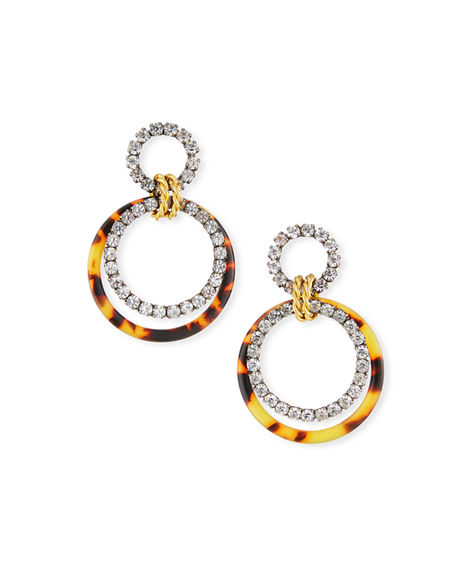 Elizabeth Cole Scarlett Hoop-Drop Earrings