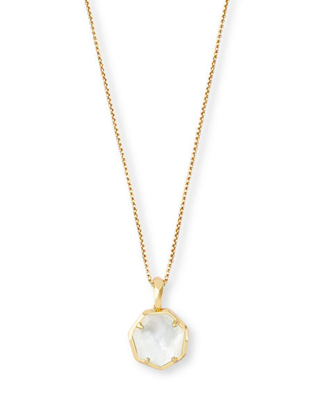 Kendra Scott CANON MOTHER-OF-PEARL PENDANT NECKLACE