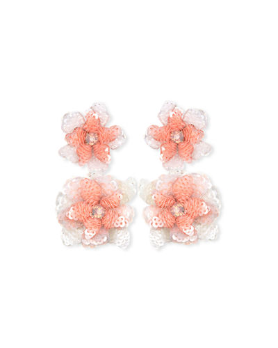 Oaxaca Sequin Flower Drop Earrings