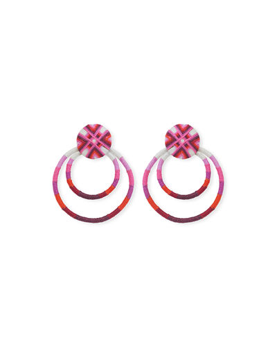 Guatemala Front 2-Hoop Drop Earrings