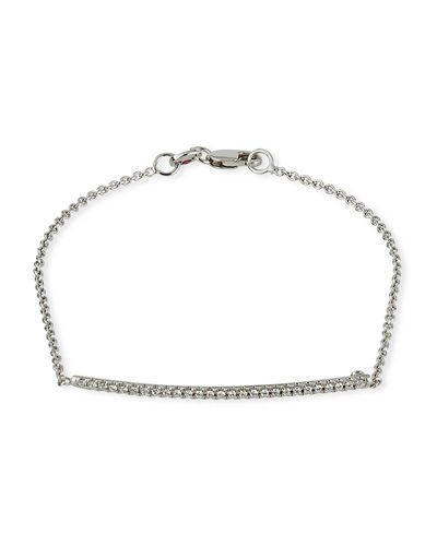 18k Diamond Bar Bracelet