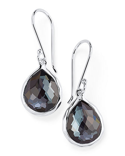 Sterling Silver Teeny Crystal Teardrop Earrings
