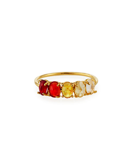 Tai Birthstone Rock Crystal Ring, Size 6 & 7