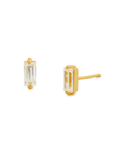 Amara Baguette Stud Earrings