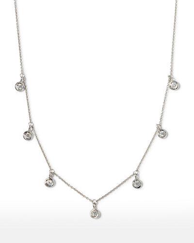 18k 7-Station Diamond Dangle Necklace