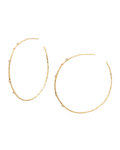 Cleo Hoop Earrings w/ Stones