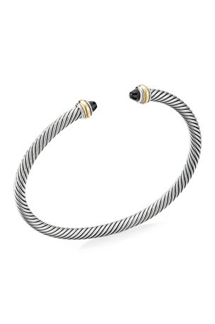 David Yurman 4mm Cable Bracelet with 18K Gold & Semiprecious Stone