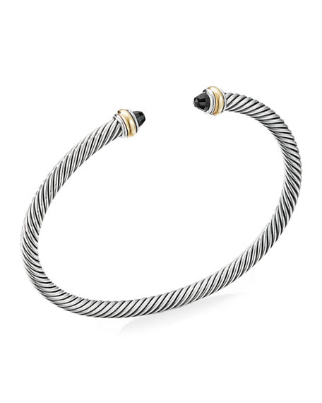 David Yurman 4mm Cable Bracelet with Semiprecious Stone & 18K Gold