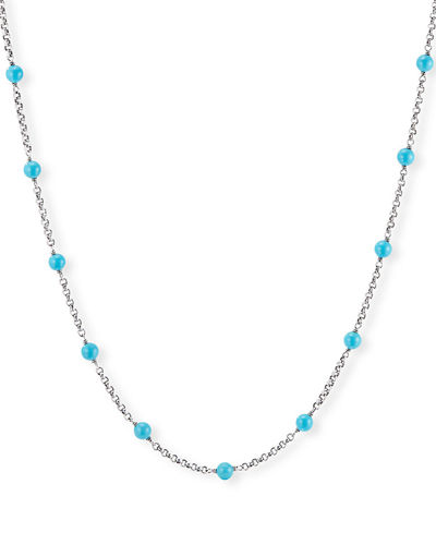 Cable Collectibles Pearl/Turquoise & Chain Necklace