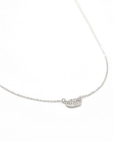 Marisa 14k Pave Diamond-Oval Necklace