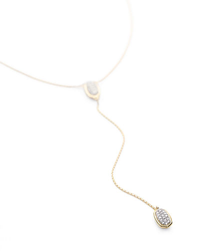 Jubiee 14k Diamond Pave Y-Drop Necklace