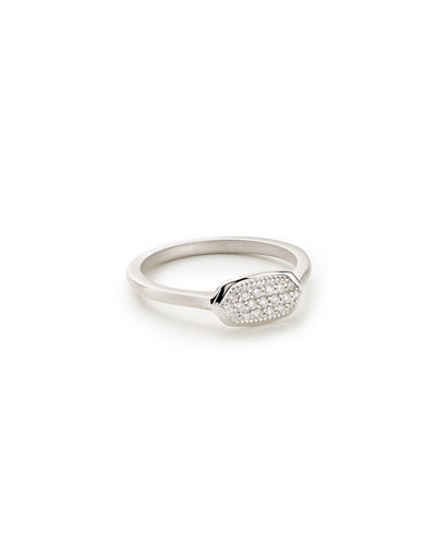 Isa 14k Diamond Pave Ring, Size 6-8