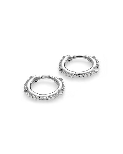Kendra Scott Jett 14k Diamond Huggie Hoop Earrings