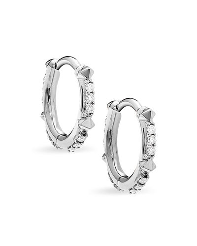 Jett 14k Diamond Huggie Hoop Earrings