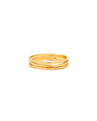 Thin Stack Rings, Set of 3, Size 6-8