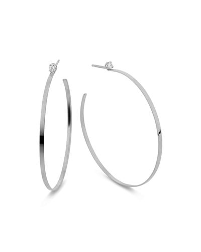 Sunrise 14k Gold & Diamond Hoop Earrings