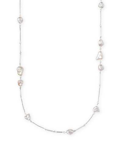Sabrina Pearl-Station Necklace, 40