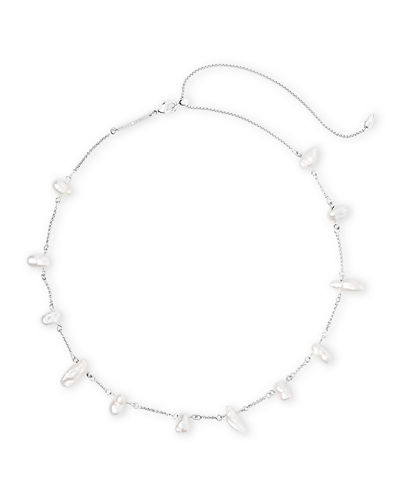Krissa Pearl-Station Necklace