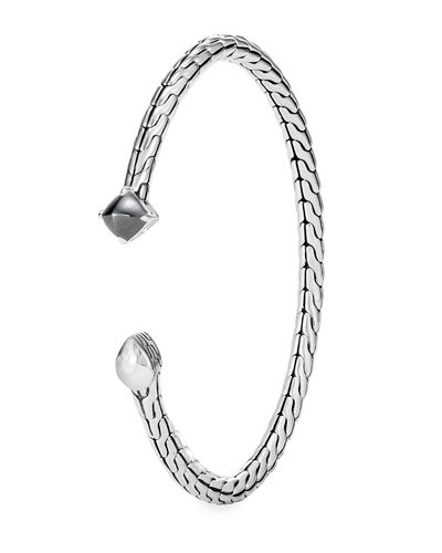 Classic Chain Split Stone Bangle Bracelet