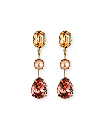 Allanah Crystal & Pearly Drop Earrings