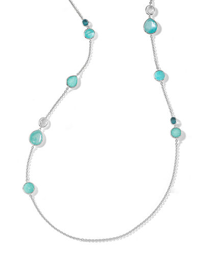 Ippolita Rock Candy Long Mixed-Stone Necklace in Eclipse
