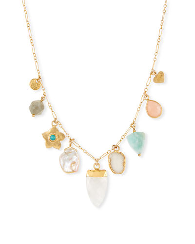 Graduating Multi-Charm Necklace