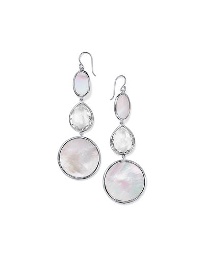 Polished Rock Candy Oval-Teardrop Earrings