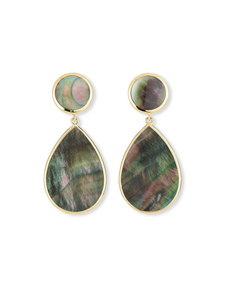 Image 1 of 2: Ippolita 18k Polished Rock Candy Mother-of-Pearl Earrings