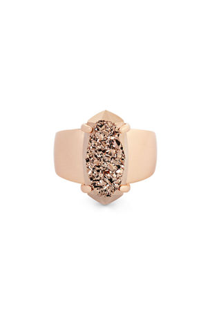Kendra Scott Harrison Druzy Cocktail Ring, Size 6-8