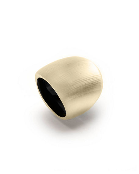Image 1 of 2: Alexis Bittar Block Ring, Size 7 & 8