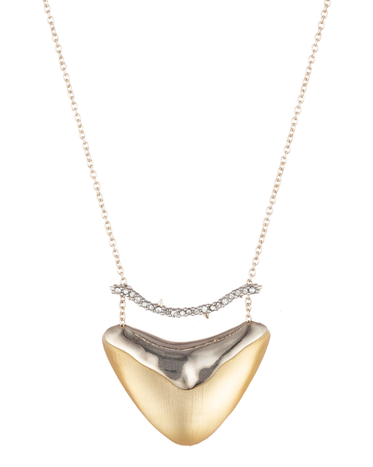 Alexis Bittar Accessories CRYSTAL ENCRUSTED BAR & SHIELD PENDANT NECKLACE