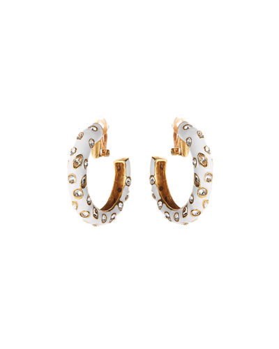Large Crystal Hoop Clip Earrings